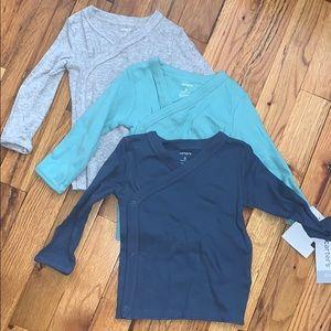 Carters long sleeve snap shirts